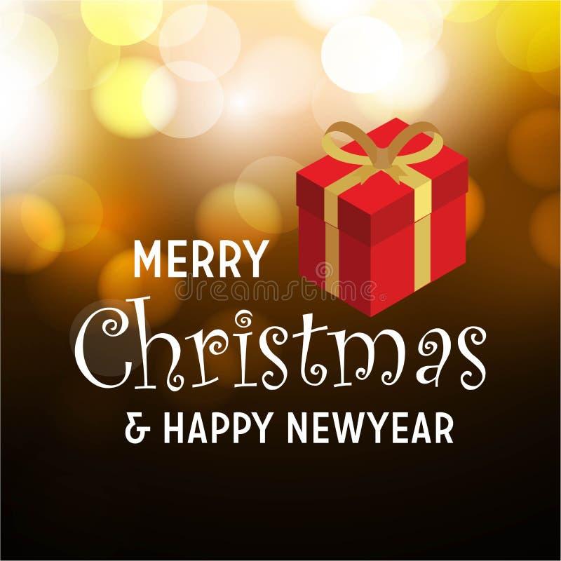 Buon Natale e fondo dell'articolo da regalo del buon anno illustrazione vettoriale