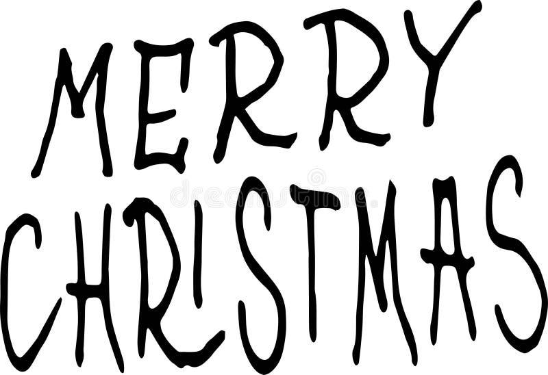 Buon Natale Illustrazione di festa con la composizione nell'iscrizione illustrazione vettoriale