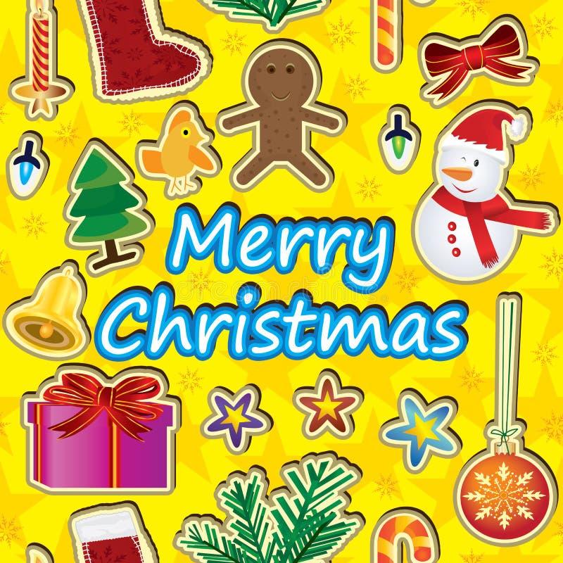 Buon Natale intorno a Pattern_eps senza giunte illustrazione vettoriale