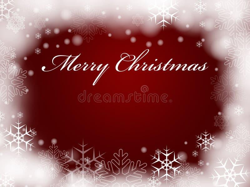 Buon Natale nel colore rosso illustrazione di stock