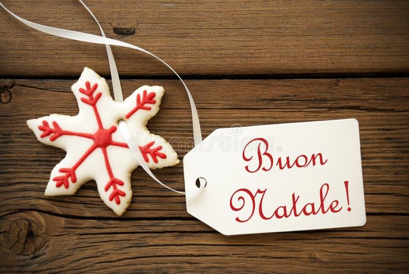 Buon Natale, salutations italiennes de Noël photographie stock libre de droits