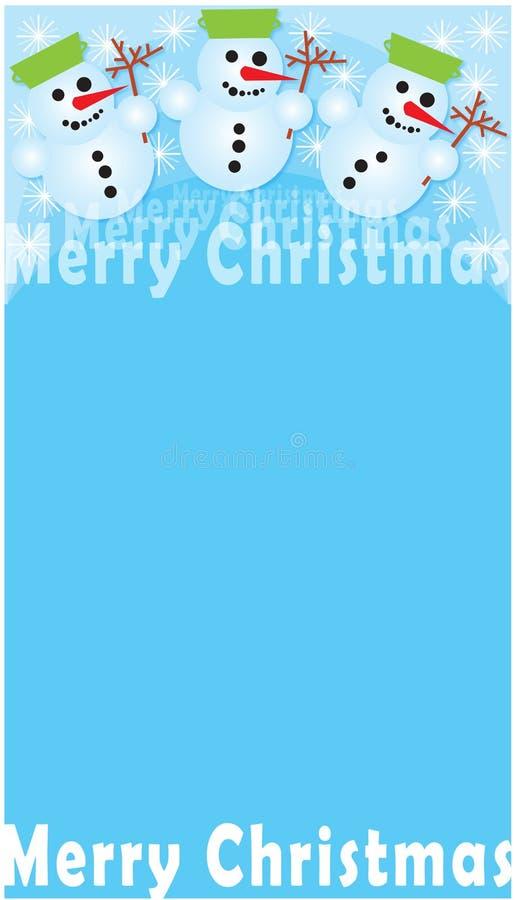 Buon Natale - Snowmans illustrazione vettoriale