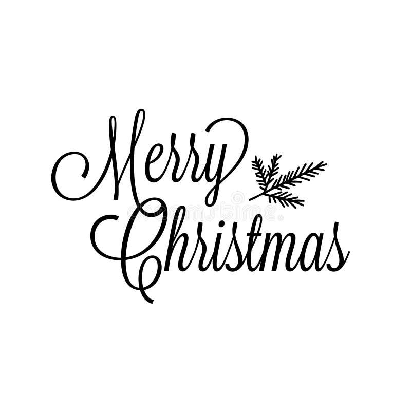 Buon Natale testo vettoriale Calligraphic Lettera modello della scheda design Tipografia creativa per poster regalo di saluto fes illustrazione vettoriale