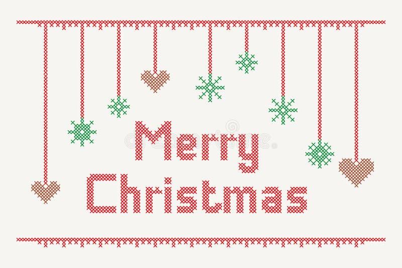 Buon Natale trasversale del punto fotografie stock