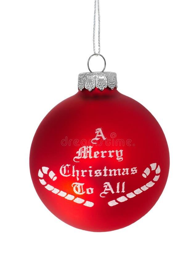 Buon Natale a tutti fotografia stock