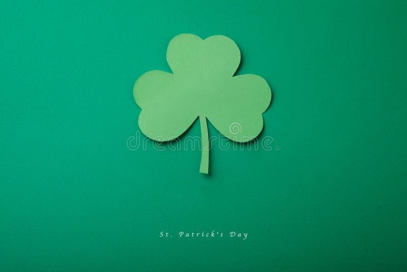 Buona carta di concetto di St Patrick di giorno felice del ` s fotografia stock libera da diritti