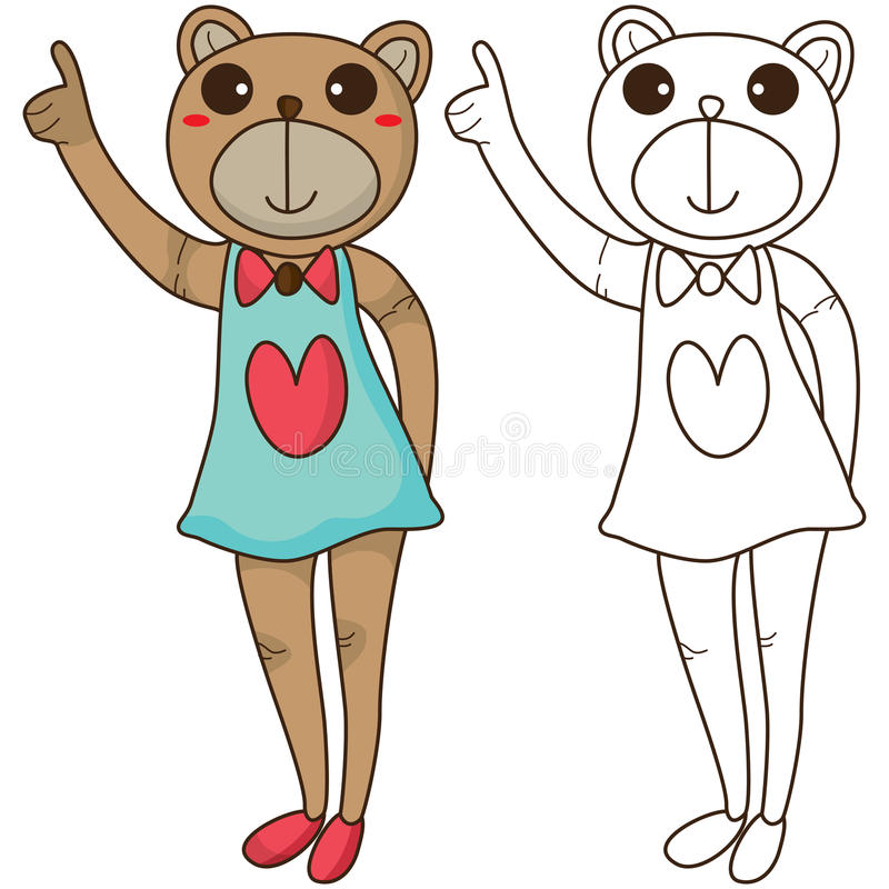 Buona coloritura dell'orso illustrazione di stock