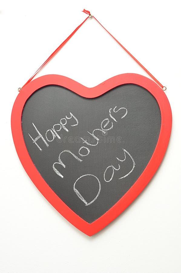 Buona Festa della Mamma scritto su una lavagna fotografie stock libere da diritti
