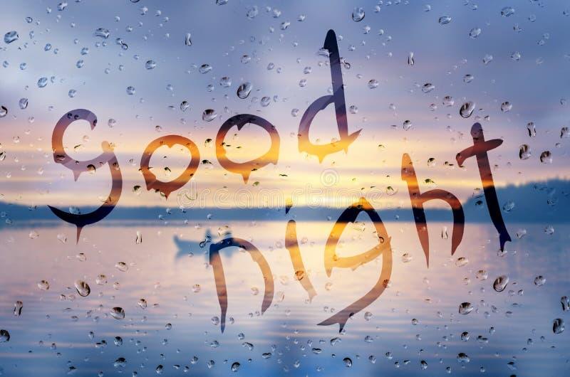 Buona notte fotografia stock
