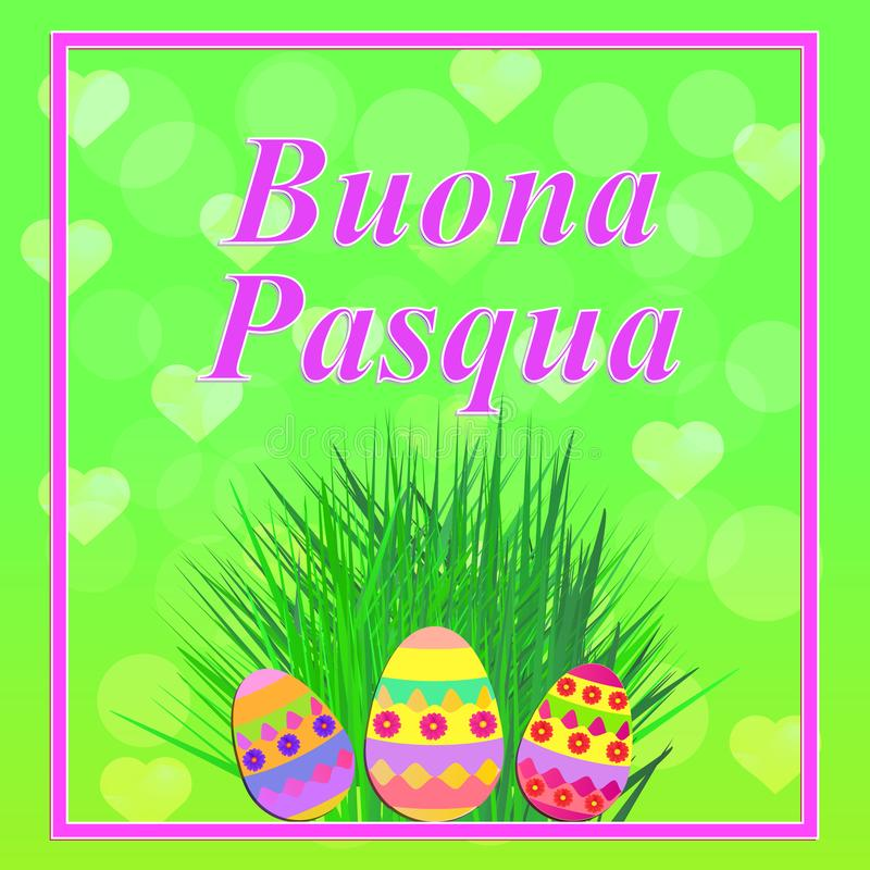 Buona pasqua illustration stock illustration illustration of gift bright background buona pasqua in italian language colorful happy easter greeting card easter illustration with calligraphic greeting m4hsunfo