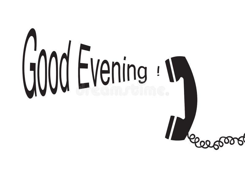Buona sera - vettore illustrazione di stock