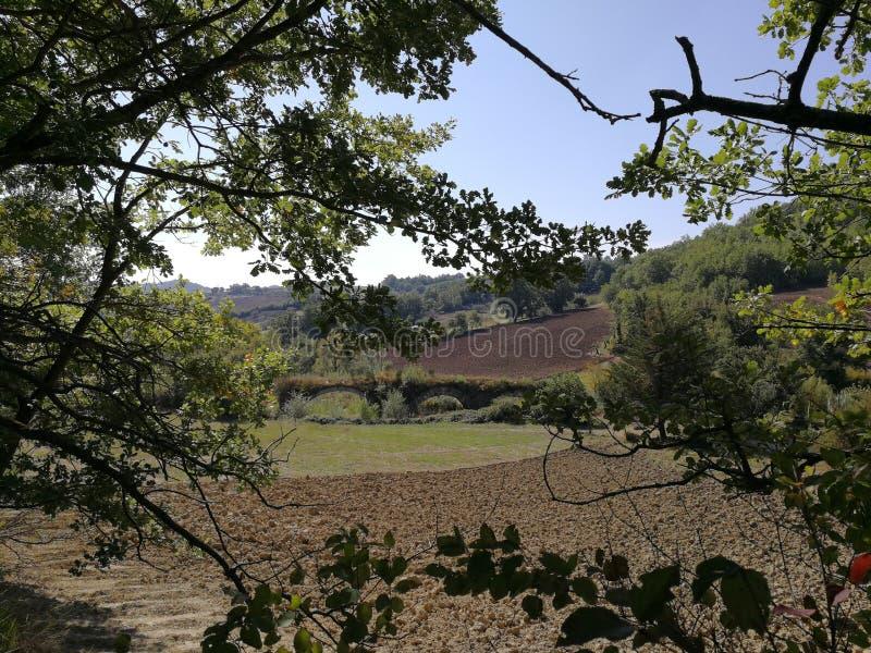 Buonalbergo - взгляд delle Chianche Ponte стоковые фото