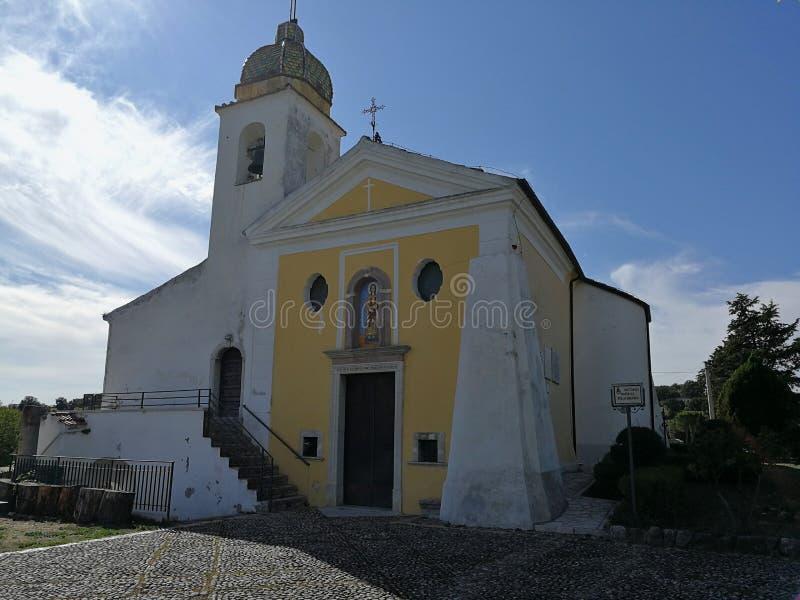 Buonalbergo - santuario del della Macchia de Madonna fotos de archivo