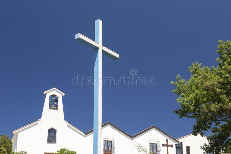 Buoncamino-Kirche in der Stadt von Iglesias, Italien lizenzfreie stockfotos