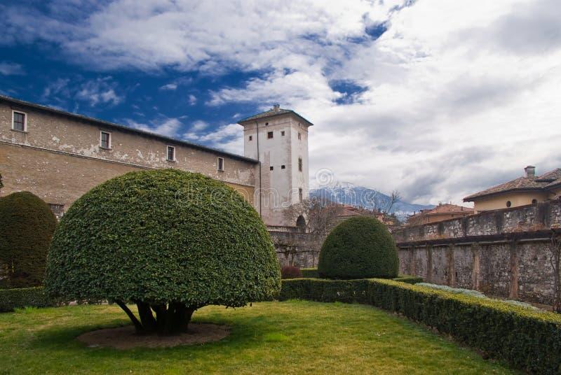 Buonconsiglio-Schloss, Trento lizenzfreies stockbild