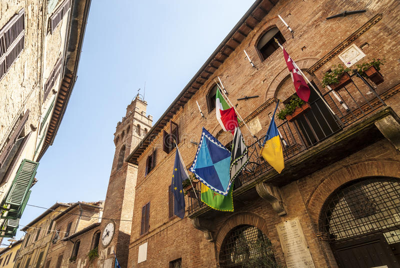 Buonconvento (Siena, Toscânia) foto de stock