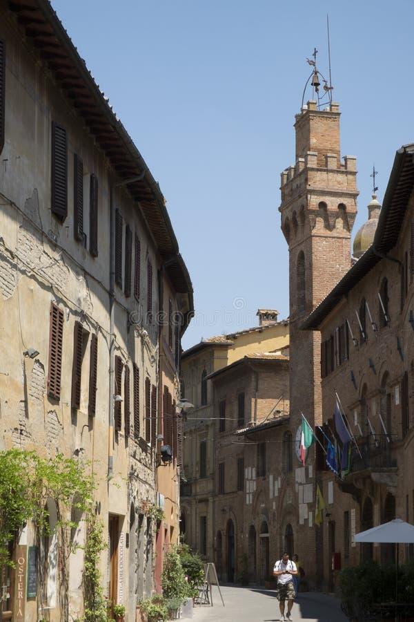 Buonconvento, Toscana imagen de archivo