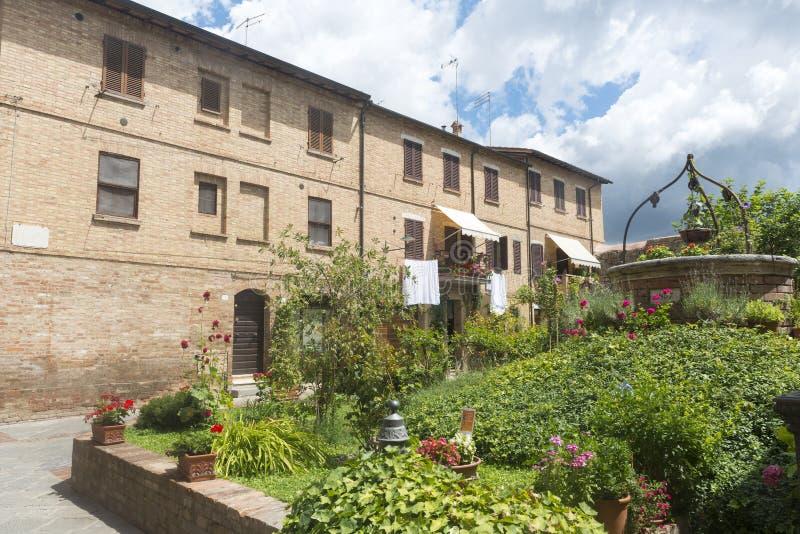 Buonconvento (Toscana, Italia) imagenes de archivo