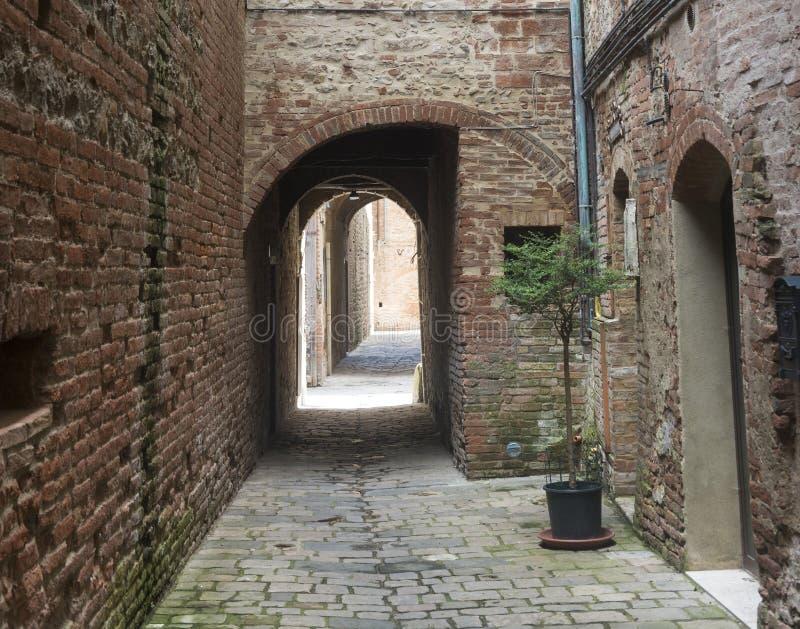 Buonconvento (Toscana, Italia) imagen de archivo