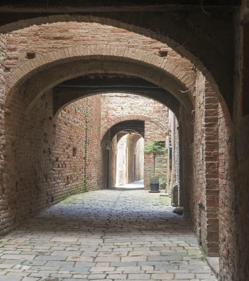 Buonconvento (Toscana, Italia) foto de archivo libre de regalías