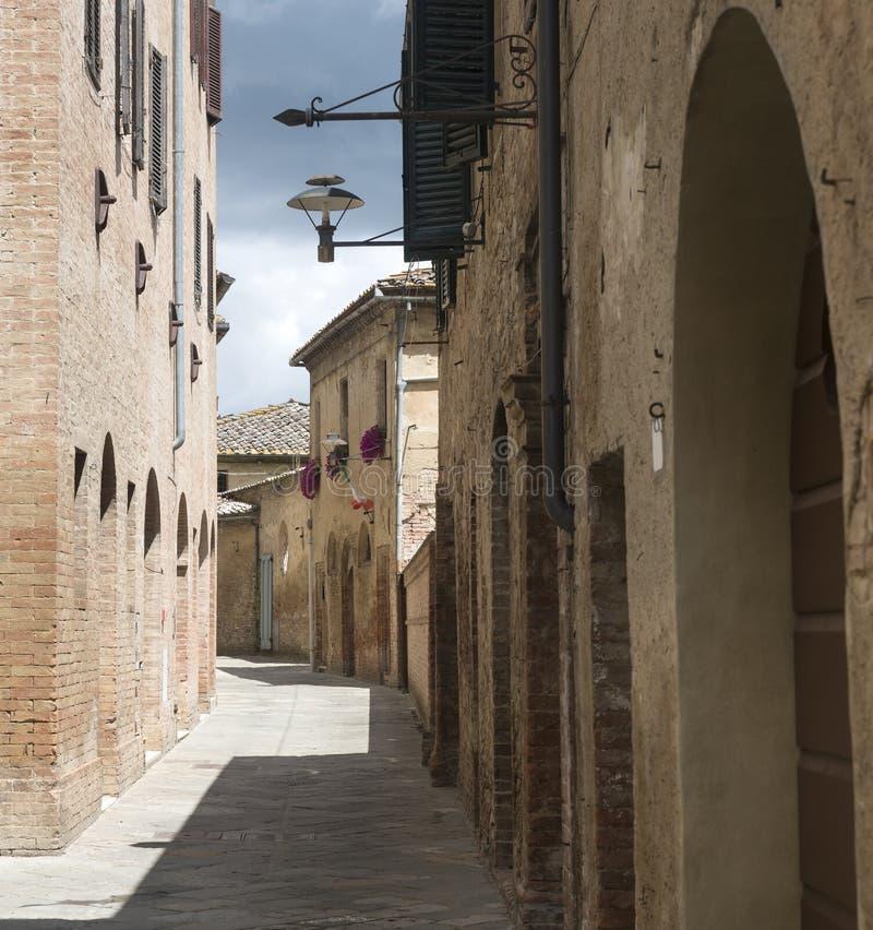 Buonconvento (Toscana, Italia) imagen de archivo libre de regalías