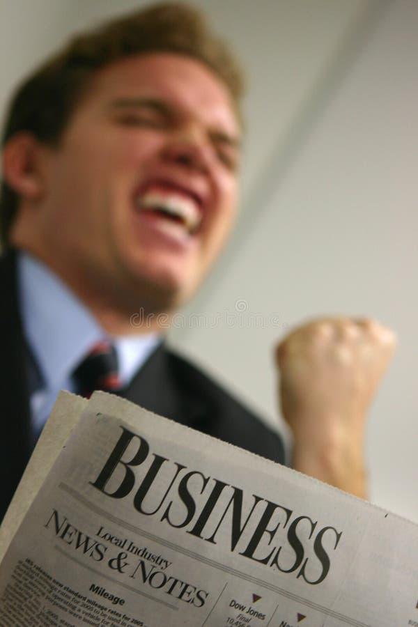 Download Buone notizie! fotografia stock. Immagine di persona, giornale - 213168