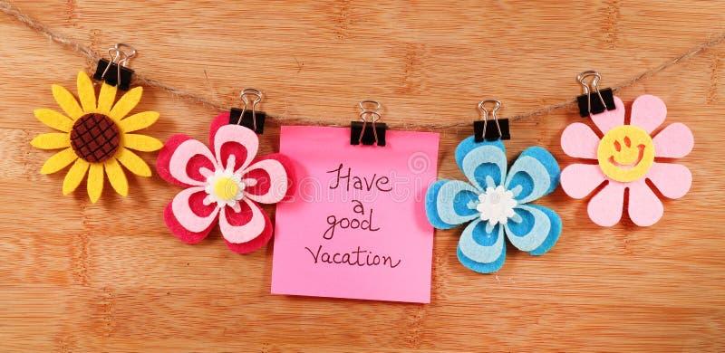 Buone vacanze immagine stock