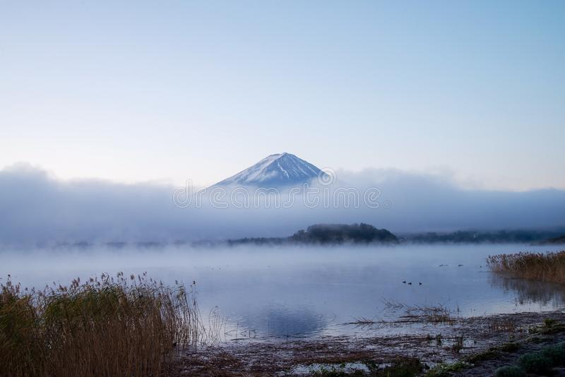 Buongiorno al monte Fuji immagine stock