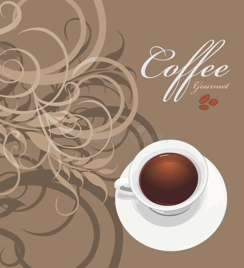 Buongustaio del caffè Modello per lo spostamento della progettazione illustrazione vettoriale