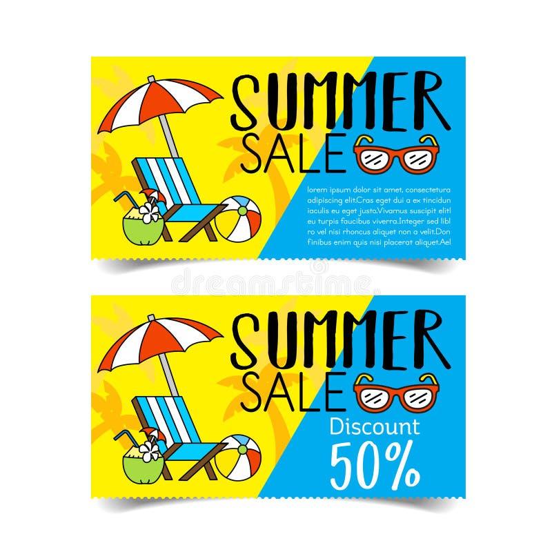 Buono di vendita di estate illustrazione di stock