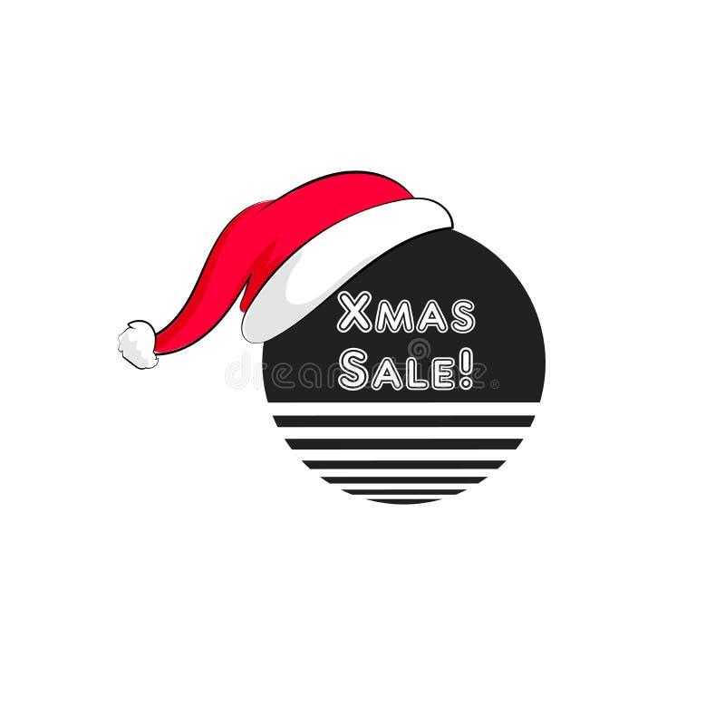 Buono di vendita di vettore Natale, buono di sconto del nuovo anno royalty illustrazione gratis