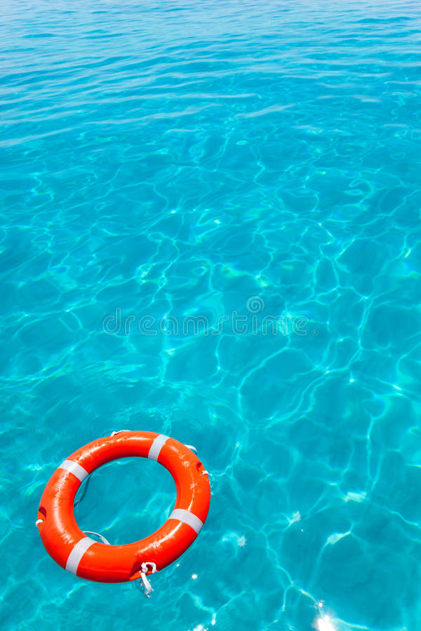 Download Buoy Orange Floating In Perfect Tropical Beach Stock Image - Image: 25407471