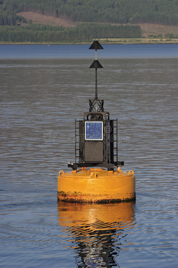 Download Buoy with sun panel. stock photo. Image of britain, scotland - 19742456