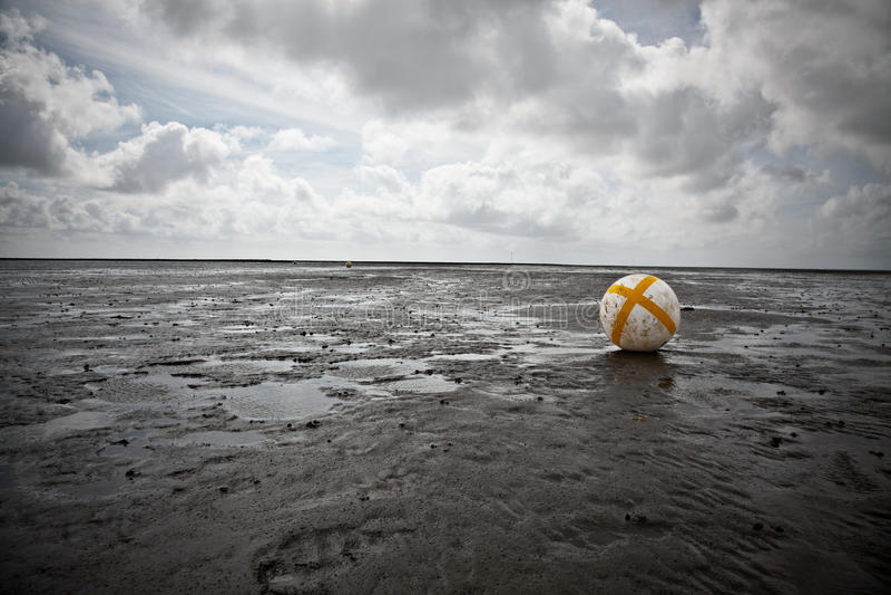 Buoy In The Wadden Sea Stock Photos