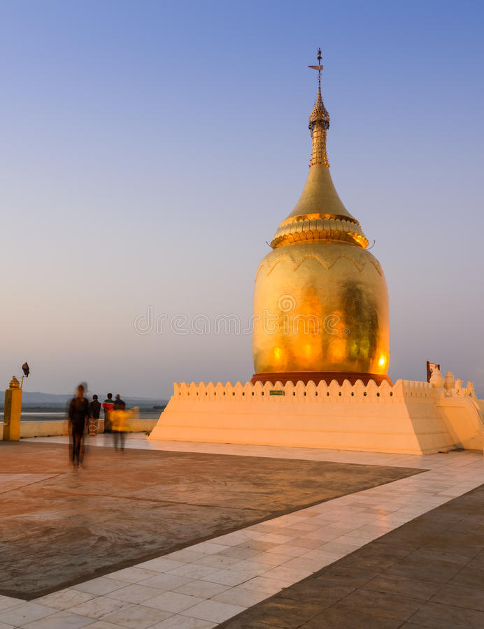Bupaya pagod, Myanmar royaltyfria bilder