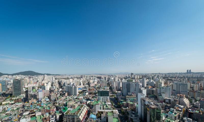 Bupyeong顾,茵契隆都市风景  免版税库存照片