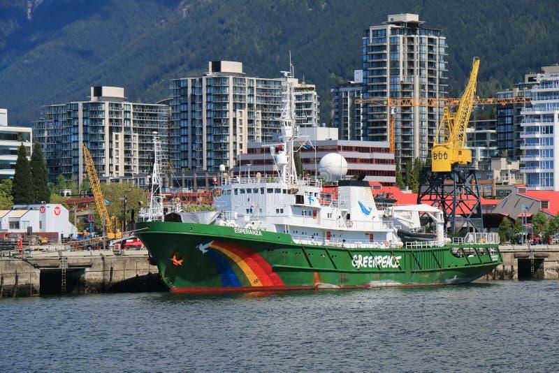 Buque de Greenpeace Esperanza foto de archivo libre de regalías