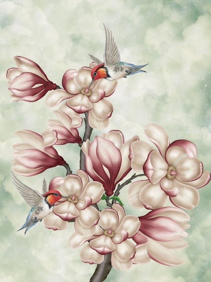 Buquet van bloemen royalty-vrije illustratie