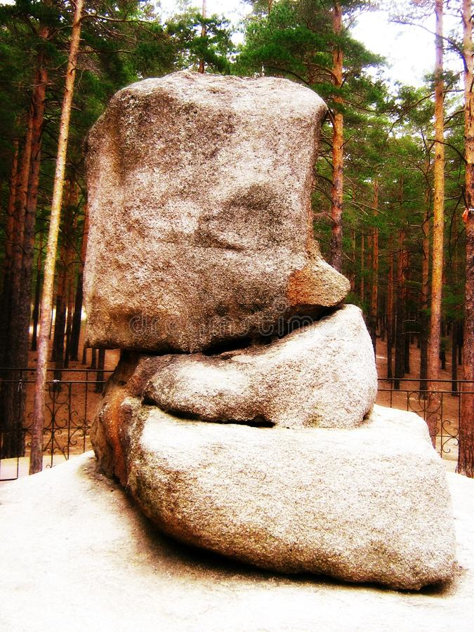 Burabay石头 免版税库存照片