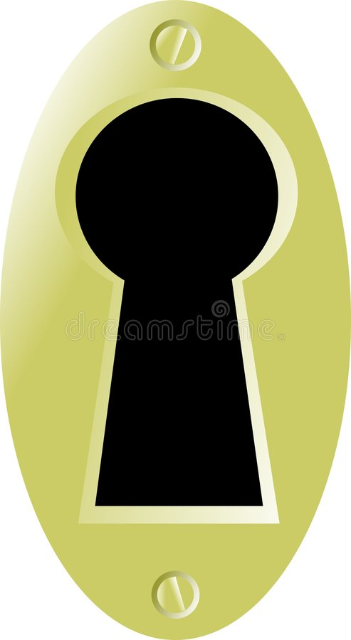Buraco da fechadura ilustração do vetor