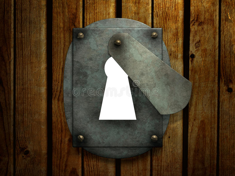 Buraco da fechadura retro ilustração do vetor