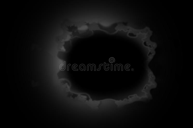 Buraco negro escuro imagem de stock