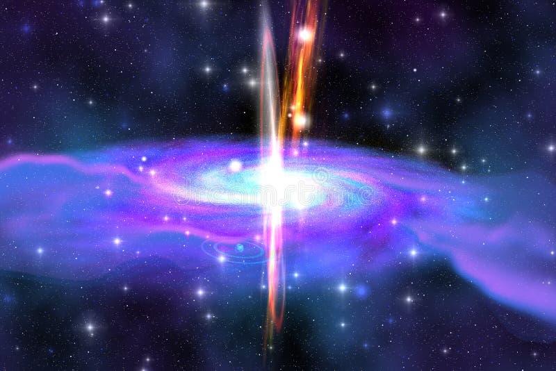 Buraco negro estelar ilustração do vetor