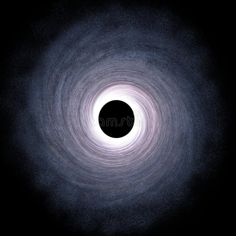 Buraco negro maciço no centro da galáxia - 3D rendeu a ilustração de Digitas ilustração do vetor