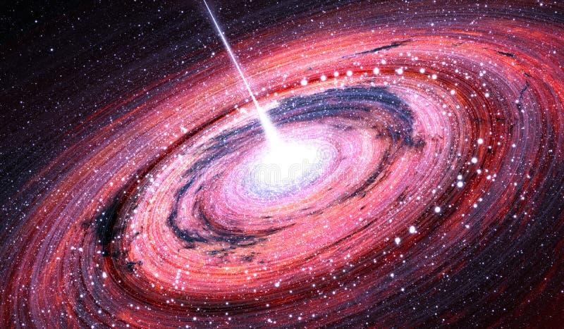 Buraco negro no centro da galáxia da Via Látea ilustração royalty free
