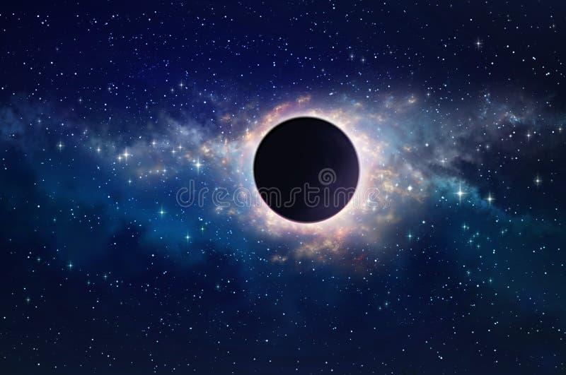 Buraco negro no espaço imagem de stock