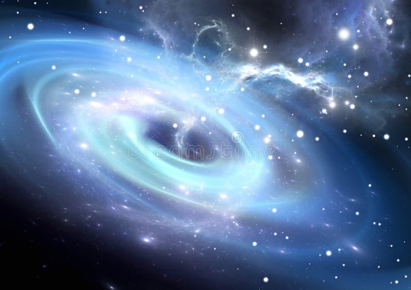 Buraco negro pesado ilustração do vetor