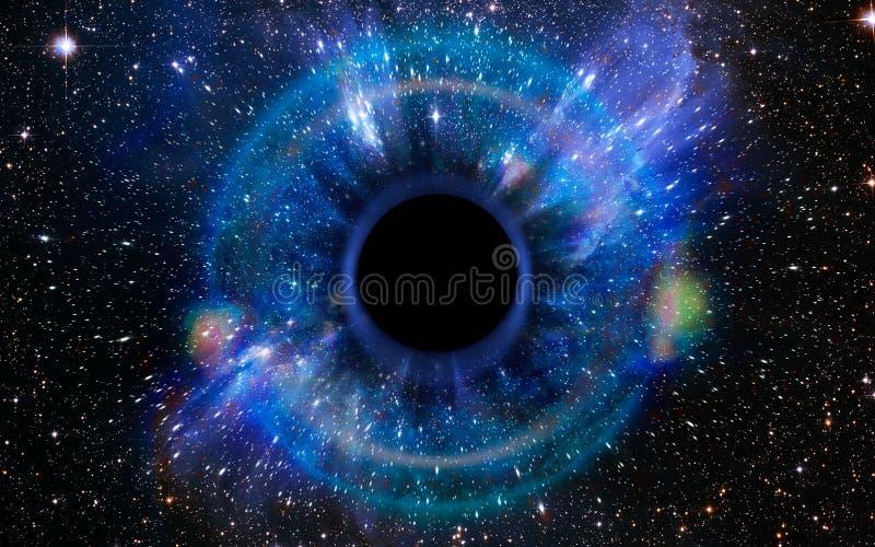 Buraco negro profundo, como um olho no céu imagem de stock