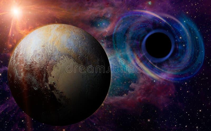 Buraco negro profundo, como um olho no céu fotografia de stock