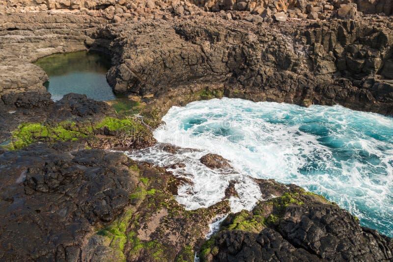 Buracona en île de sel Cap Vert - Cabo Verde photographie stock